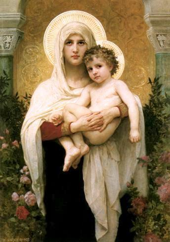 Mother Mary and Jesus as a Child